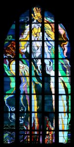 Kraków_-_Church_of_St._Francis_-_Stained_glass_01-152x300